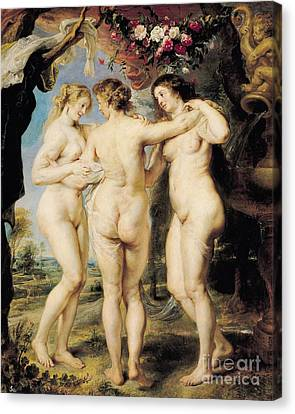 The Three Graces Canvas Print by Peter Paul Rubens