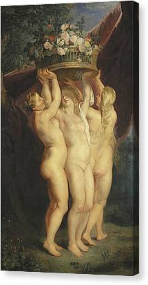 The Three Graces Canvas Print by Rubens