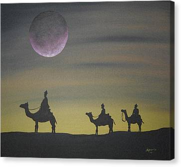 The Three Kings Canvas Print by Edwin Alverio