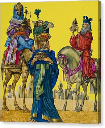 Nativity Canvas Print - The Three Kings by Richard Hook