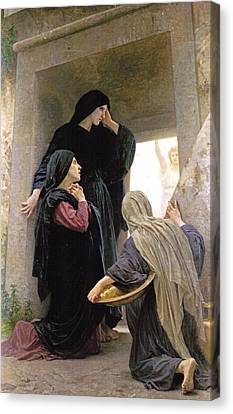 The Three Marys At The Tomb Canvas Print by William Bouguereau