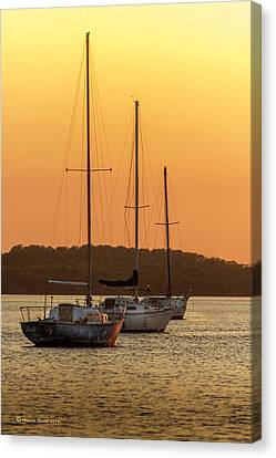 The Three Mast Canvas Print by Marvin Spates