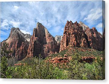 Canvas Print featuring the photograph The Three Patriarchs by Barbara Manis