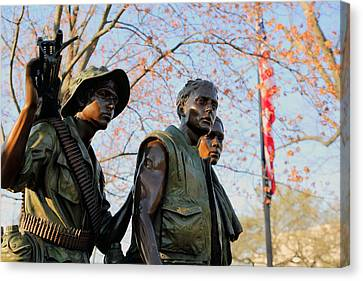The Three Soldiers Canvas Print by Mitch Cat
