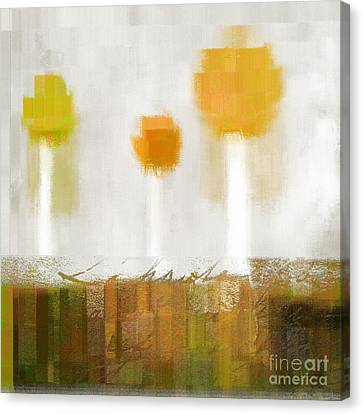 The Three Trees - 0304d Canvas Print by Variance Collections