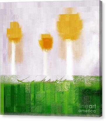 The Three Trees - 3305-t3t Canvas Print by Variance Collections