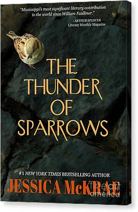 The Thunder Of Sparrows Book Cover Canvas Print