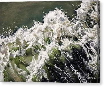 Pastel Canvas Print - The Tide by Christopher Reid