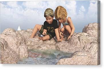 The Tide Pool Canvas Print by Jayne Wilson