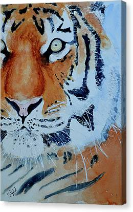 Canvas Print featuring the painting The Tiger by Steven Ponsford