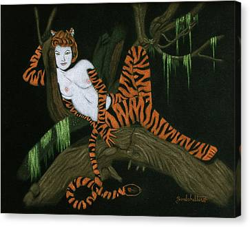 The Tigress Canvas Print by Diane Bombshelter
