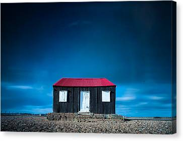 The Tin Shed On The Beach Canvas Print