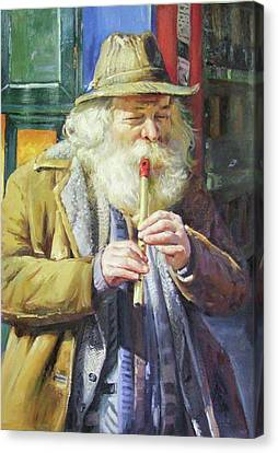 Character Study Canvas Print - The Tin Whistle by Conor McGuire
