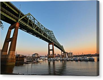 The Tobin Bridge Into The Sunset Canvas Print by Toby McGuire