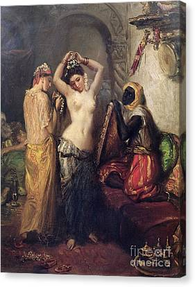 Harem Canvas Print - The Toilet In The Seraglio by Theodore Chasseriau