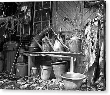 The Tool Shed Canvas Print by Brian Roscorla