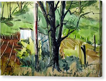 The Tool Shed By The Black Ash Matted Framed Glassed Canvas Print by Charlie Spear