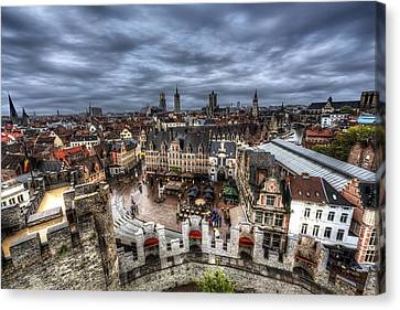 Canvas Print featuring the photograph The Top Of Ghent by Shawn Everhart