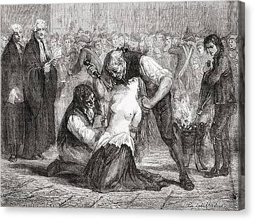 The Torture Of Madame De La Motte Canvas Print