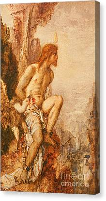 The Torture Of Prometheus Canvas Print by Gustave Moreau