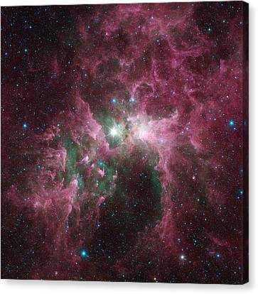The Tortured Clouds Of Eta Carinae Canvas Print by Nasa