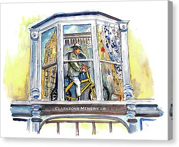 The Tour De Yorkshire In York Canvas Print