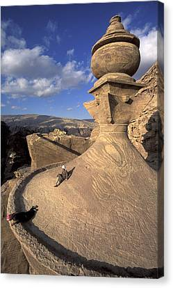 The Tower Of The Ad-deir Monastery Canvas Print by Richard Nowitz