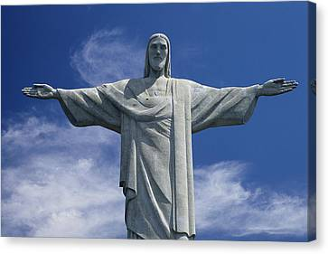The Towering Statue Of Christ Canvas Print by Richard Nowitz