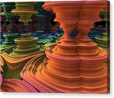 Canvas Print featuring the digital art The Towers Of Zebkar by Lyle Hatch