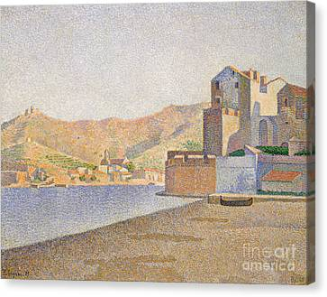 The Town Beach, Collioure Canvas Print by Paul Signac