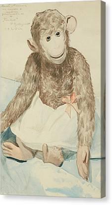 The Toy Monkey Canvas Print by Boris Mikhailovich Kustodiev
