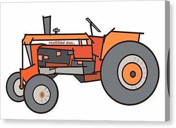 The Tractor Canvas Print by Denny Casto
