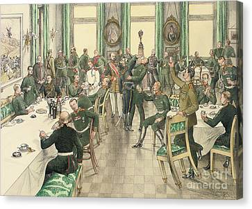 The Traditional Breakfast Held To Commemorate The Battle Of Telish Canvas Print by Boris V de Heroys