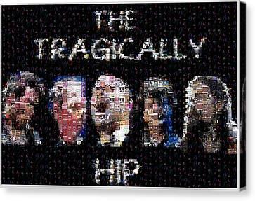 The Tragically Hip Mosaic Canvas Print by Paul Van Scott