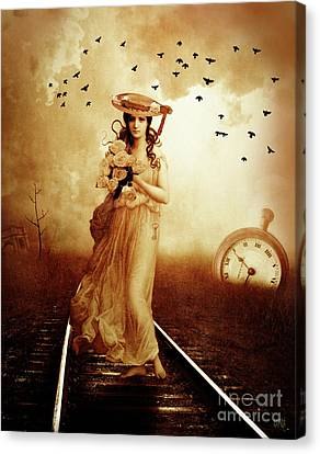 The Train Never Came Canvas Print by KaFra Art