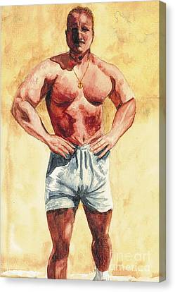 Canvas Print featuring the painting The Trainer by Vicki  Housel