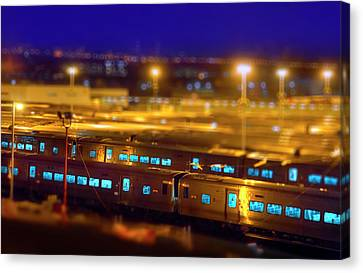 The Trainyards Canvas Print by Mark Andrew Thomas