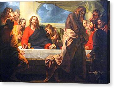 Last Supper Canvas Print - The Traitor by Munir Alawi