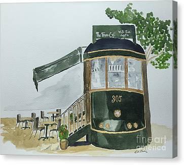 The Tram Cafe Canvas Print by Eva Ason
