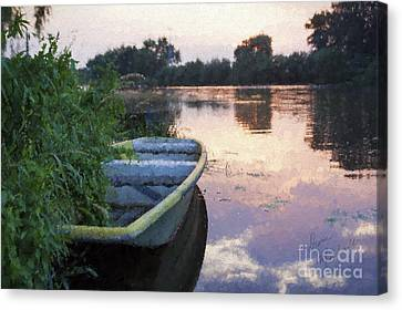The Tranquil Elbe Canvas Print by Diane Macdonald