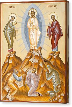The Transfiguration Of Christ Canvas Print by Julia Bridget Hayes