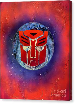The Transformers Canvas Print by Justin Moore