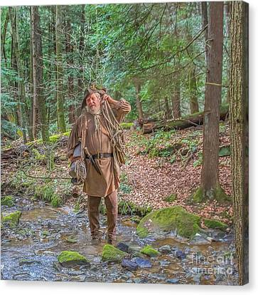 Colonial Man Canvas Print - The Trapper by Randy Steele
