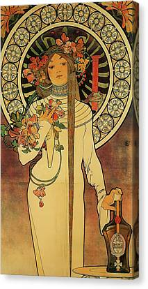 The Trappistine Canvas Print by Alphonse Mucha