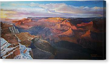 The Traveler Canvas Print by Ron Bowles