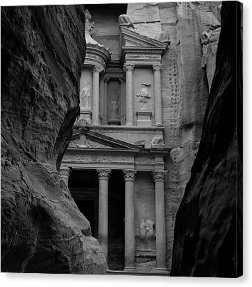 Petra Canvas Print - The Treasury - Petra by Peter Dorrell