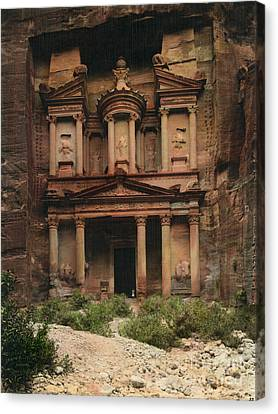 Petra Canvas Print - The Treasury Petra by Celestial Images