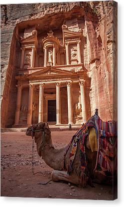 The Treasury. Petra, Jordan. Canvas Print by Nicholas Tinelli