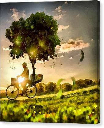 The Tree Mover Canvas Print by Leonardo Digenio