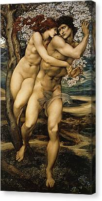 The Tree Of Forgiveness Canvas Print by Edward Burne Jones